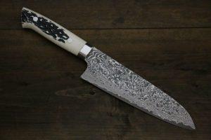 image d'un couteau japonais damas