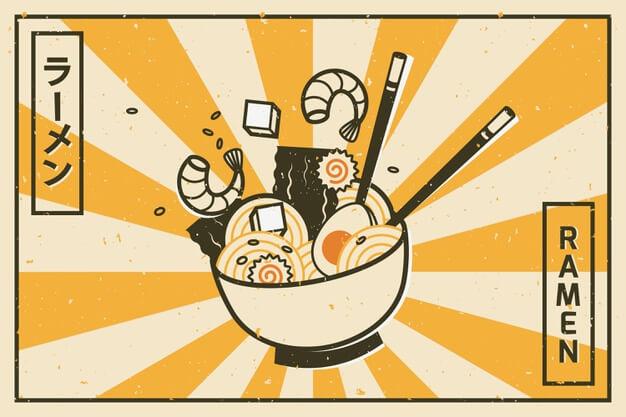 Image publicitaire de Ramen, une soupe japonaise