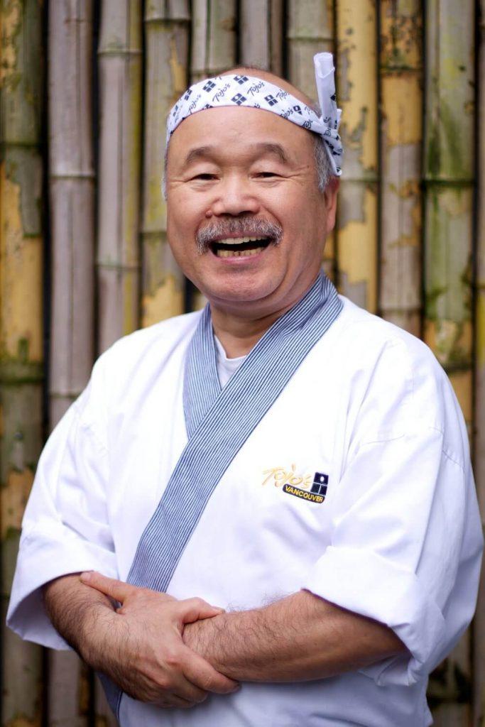 Photo du créateur du California roll , qui est un chef japonais habitant au Canada