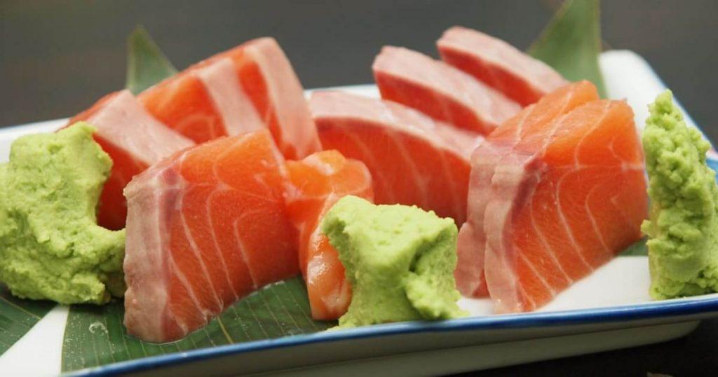 image d'un sashimi au saumon